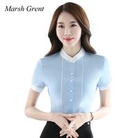 2017 Summer Style Blouse Women Fashion Plus Size Chiffon Elegant Shirt Female Work Wear Office Ladies