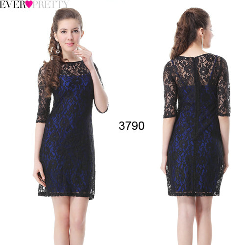 9d2fea533ef  Clearance Sales  Ever Pretty HE03790 2018 New Sexy Round Neckline Three  Quarters Sleeves Lace Women Cocktail Party Dress-in Cocktail Dresses from  Weddings ...