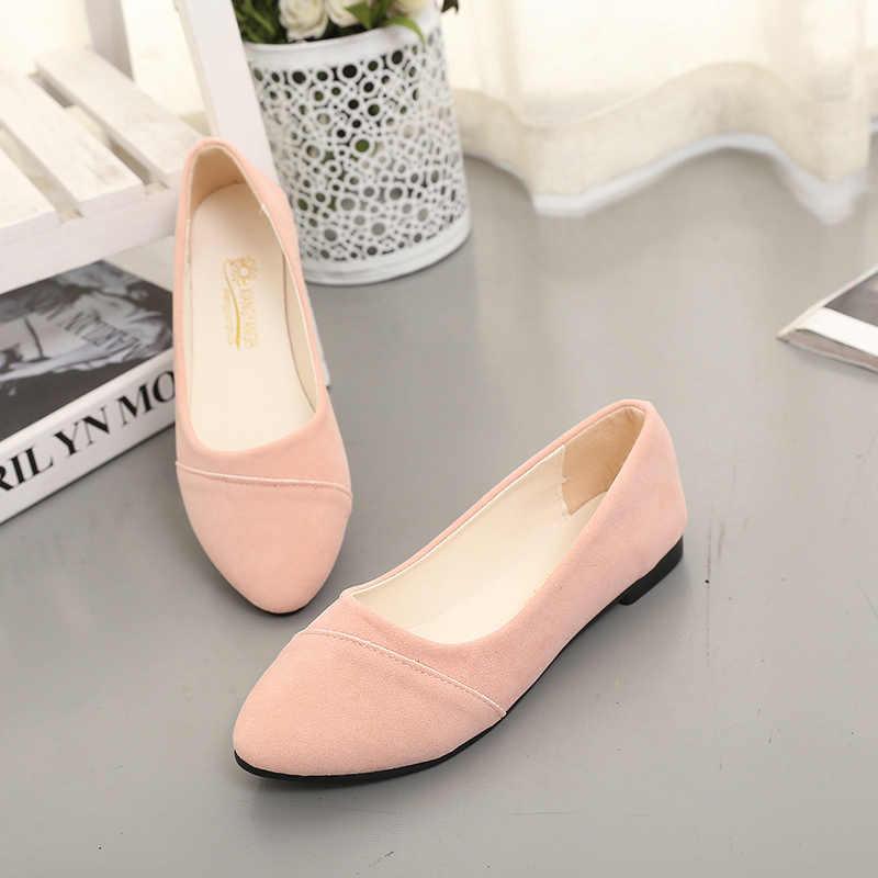 אביב סתיו נשים נעליים להחליק על שטוח נעלי אישה דירות מוקסינים שחורים בלט דירות פלוק גבירותיי נעליים יומיומיות zapatos mujer 7665