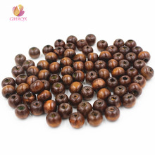 8mm brown wood beaded DIY Jewelry Making Bracelet makeing Jewelry accessories wholesale 50 pcs(China)