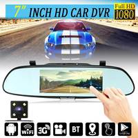 7inch 1080P Touch Screen Android 5 0 Bluetooth Dual Lens G Sensor 3G WIFI GPS Rear