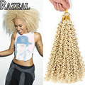 Zazeal Hair Products 14In Crochet Braids Blonde Braiding Hair Kinky Curly Freetres Water Wave Synthetic Crotchet Hair Extension