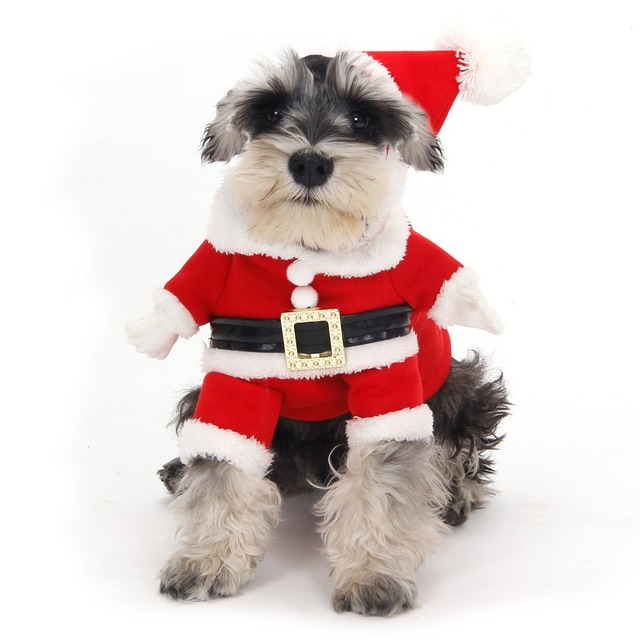 free shipping dog christmas cotumes pet warm winter clothing puppy dog cat apparel christmas wear with