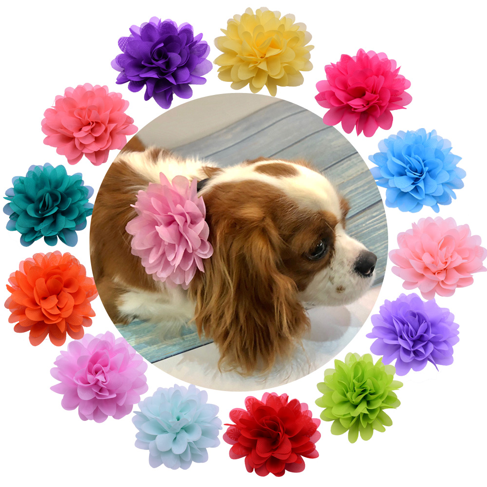 1X Pet Dog Cat Collar Charms Removable FLower Bows For Party Holiday Wedding Dog Accessories Grooming Pet Supplies