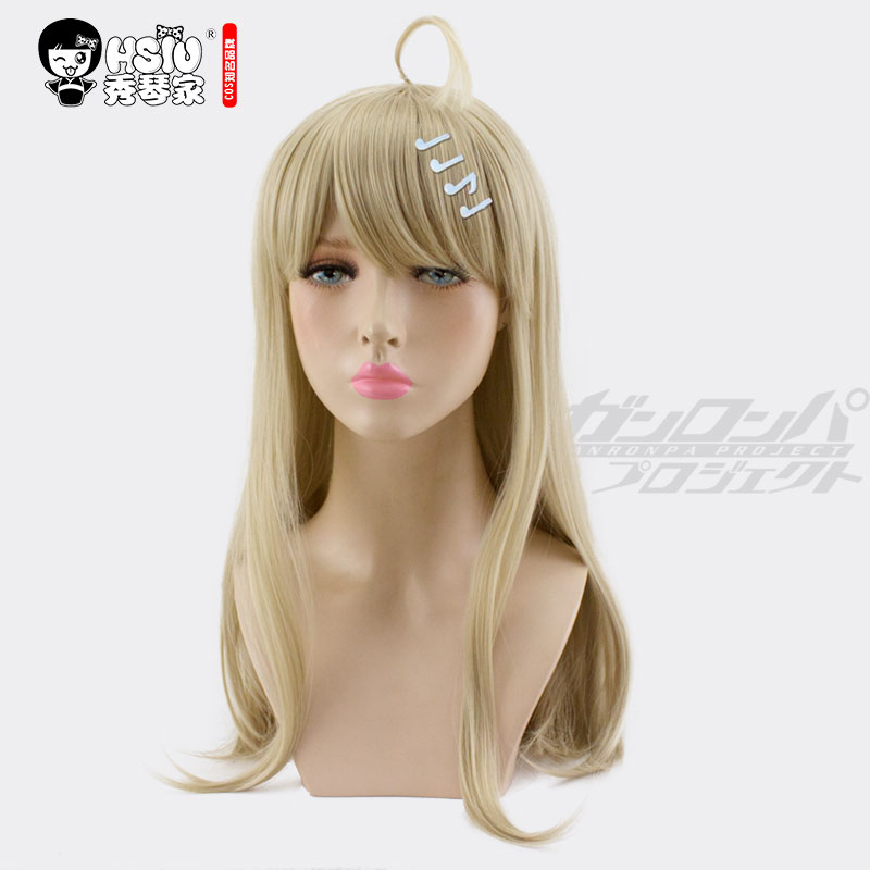 Image 2 - HSIU Kaede Akamatsu Cosplay Wig New Danganronpa V3 Costume Play Wigs Halloween Costumes Hair free shipping NEW High quality-in Anime Costumes from Novelty & Special Use