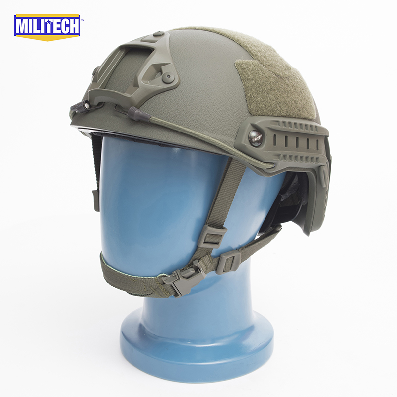 MILITECH FAST OD Green FA Style Super ABS Airsoft Tactical Helmet Ops Core Style High Cut Training Helmet Super Tough Quality fast od pj carbon style vented airsoft tactical helmet ops core style high cut training helmet fast ballistic style helmet