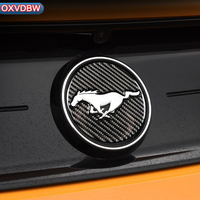 Carbon Fiber Rear Car Sign 3D sticker Emblem for Ford Mustang Car Stickers Car Styling 2015 2016 2017 Auto Accessories