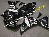 Горячие продаж, Yzf1000-r1 09 10 11 обвес для Yamaha Yzf R1 2009 - 2011 гонка мотоцикл черный FIAT кузов ( литья под давлением )