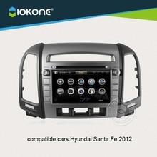 IOKONE Car Video DVD CD Player Stereo GPS navi for Hyundai Santa Fe 2012 With autoRadio,Bluetooth,iPod,Steering Wheel Control