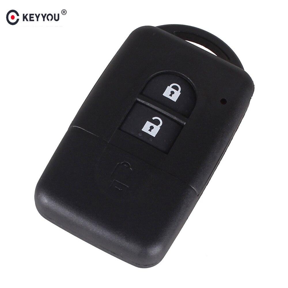 KEYYOU New Replacement Remote Key Shell Case Fob Keyless Entry 2 Button for Nissan Micra Xtrail Qashqai Juke Duke