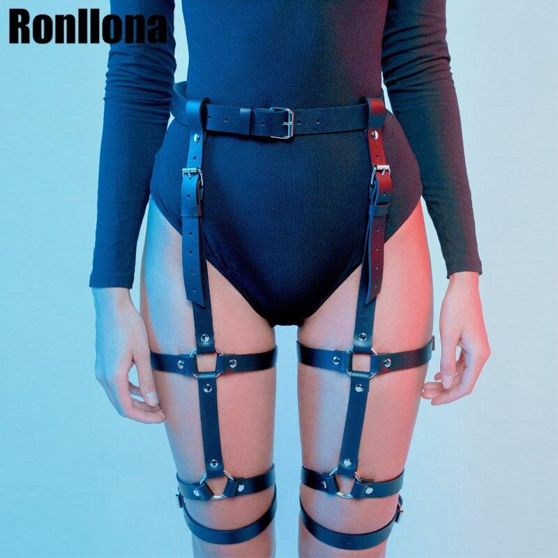 Harness garter cinto erótico goth lingerie gaiola suspender cinto bondage arnês estilo punk gótico garter fetish perna meia cinto