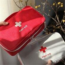 цены на 230x130x75mm Outdoor First Aid Emergency Medical Kit Survival bag Wrap Gear Hunt Travel Storage Bag medicine kit Free shipping  в интернет-магазинах