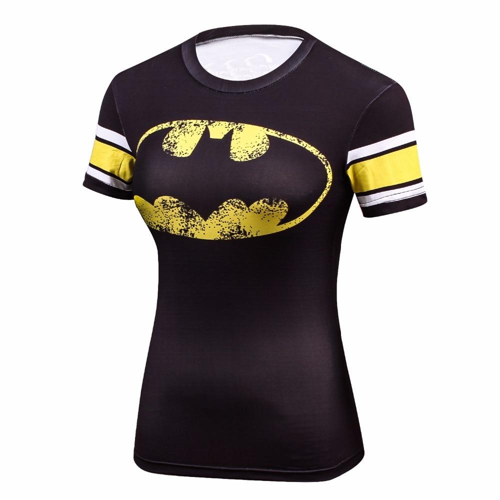 2018 Star Wars Fresco Avengers Superhero Superman Capitão América Camisa Casual T Shirt Mulheres Musculação Compressão