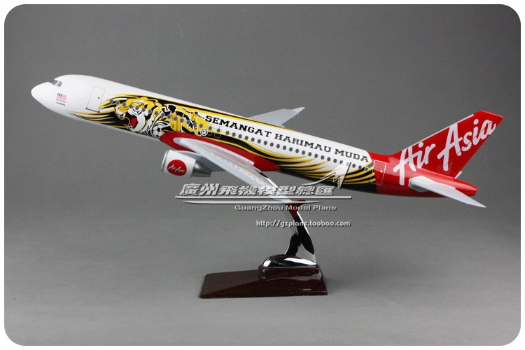 47cm Resin A320 Air Asia Tiger Airplane Model Colorful Painting Airlines Airbus Air Asia A320-200 Airways Aircraft Plane Model 36cm a380 resin airplane model united arab emirates airlines airbus model emirates airways plane model uae a380 aviation model
