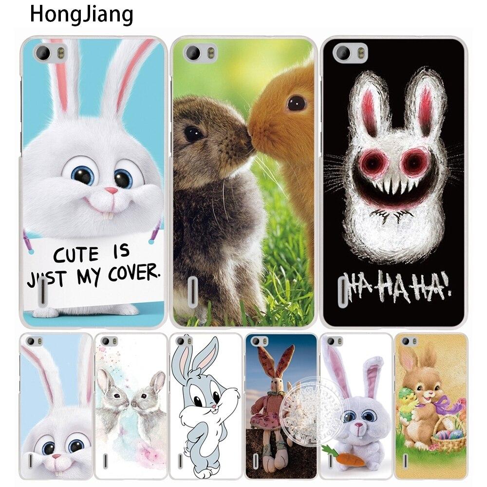 Hongjiang милые кролик животное сотовый телефон чехол для <font><b>Huawei</b></font> Honor 3C 4A 4x 4c 5&#215;6 7 8 Y3 y5 <font><b>Y6</b></font> 2 II Y560 Y7 2017
