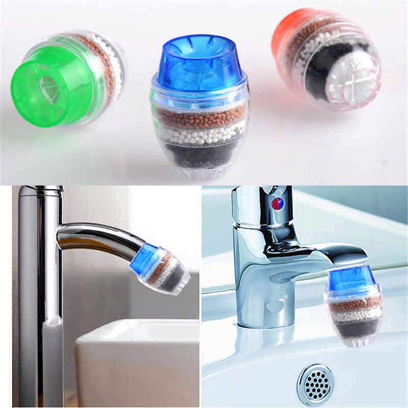 مصغرة جوز الهند الكربون منقي مياه منظف المرشّح خرطوشة المنزل المطبخ صنبور الحنفية للمطبخ الحمام عدة عشوائي اللون
