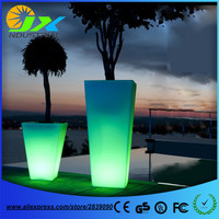 Rechargeable LED Flower Pots Glowing light Planters Vases PE Material Free Shipping