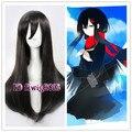 Free Shipping Tateyama Ayano 75cm Black Long Synthetic Cosplay Wig Anime Wig  +a wig cap