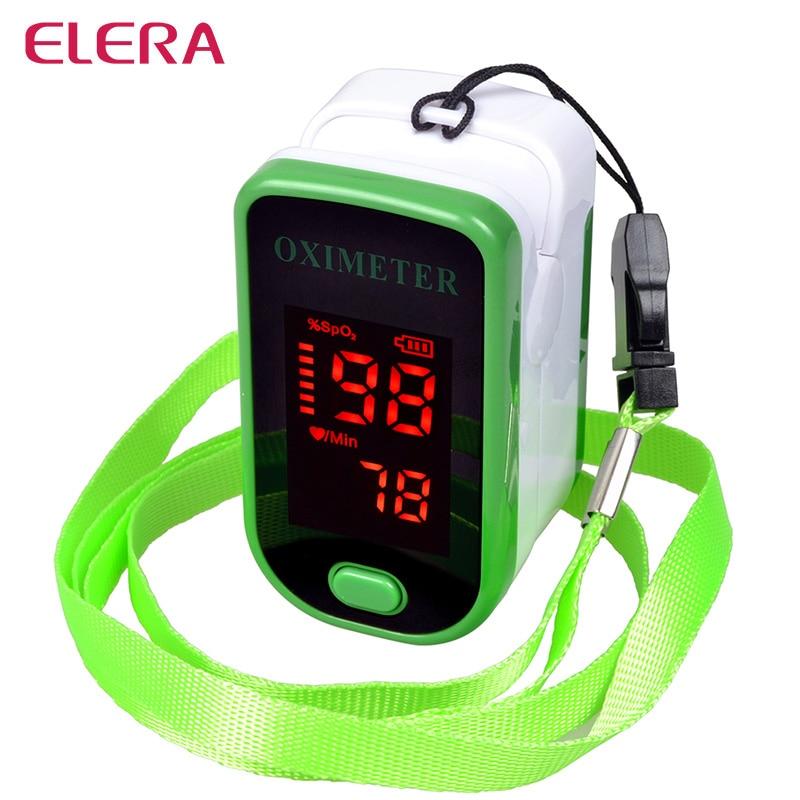 ELERA Health Care Finger Pulse Oximeter Blood Oxygen SPO2 PR Oximetro de dedo digital Portable Oximeter a Finger