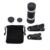 4em1 8x Universal Lentes Da Câmera do Telescópio Universal 3 em 1 Olho de Peixe Peixe olho lente macro lente para iphone 7 iphone 6 s 6 5S lente