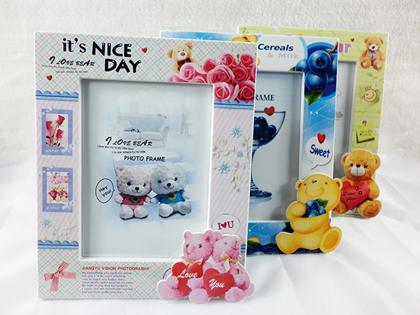 Home Frame Bear Photo Frame With 3 Colors Child Cartoon Baby Picture