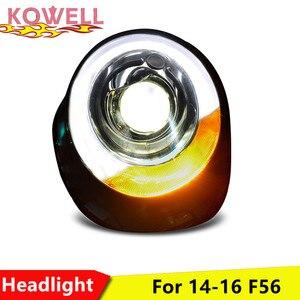 Image 3 - KOWELL Car Styling For Mini F56 cooper headlights For F56 LED head lamp Angel eye led DRL front light Bi Xenon Lens xenon HID