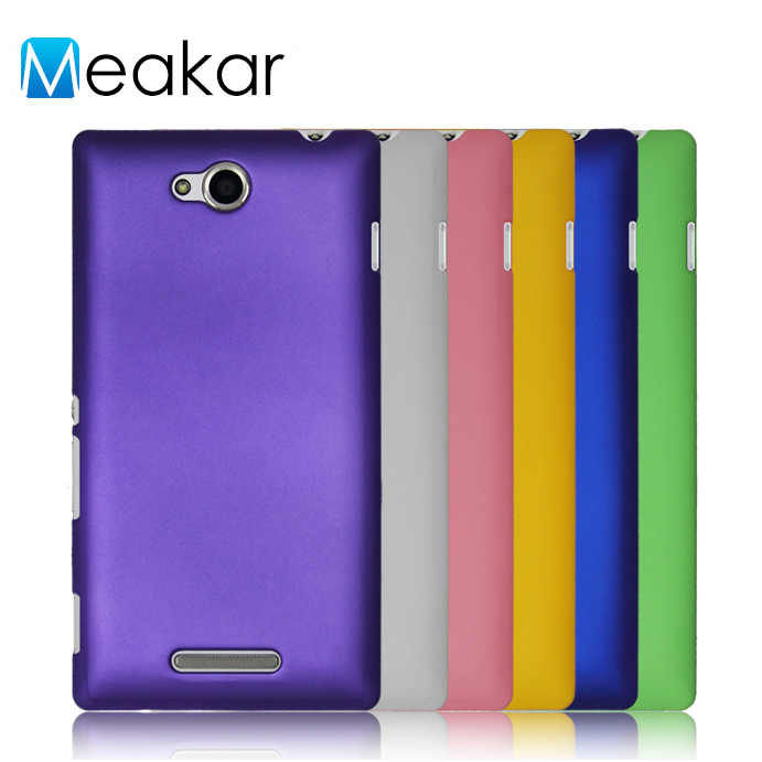 Matte Plastik Coque Cover 5.0For Sony Xperia C2305 Case untuk Sony Xperia C2305 C Dual S39H Telepon Kembali Coque Cover kasus