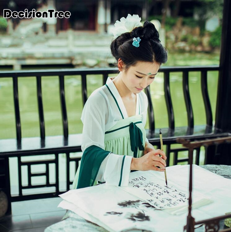 2017 summer chinese costume hanfu tang suit ming dynasty style dress