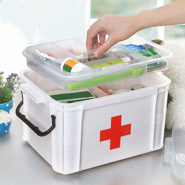 Ordinaire Desk Organizer Makeup Storage Home First Aid Kit Large Capacity Medicine  Case Multifunctional Storage Box With