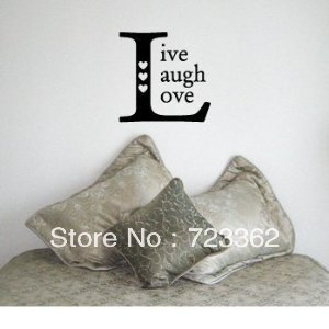 Live Laugh Love Square Family Country Design Vinyl Wall Room Decal