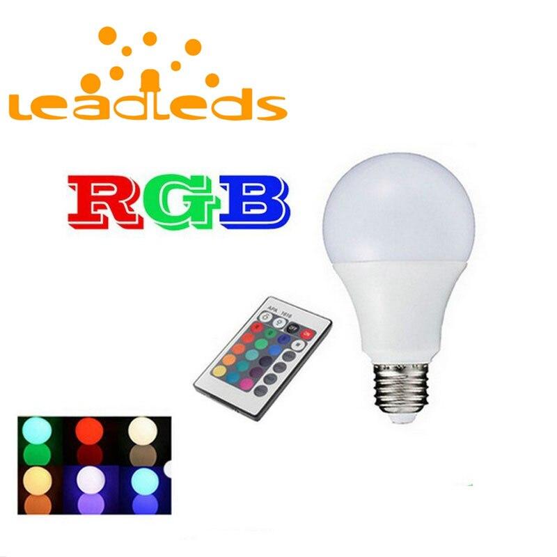 Led Bulbs & Tubes New Arrival Rgb Bulb Led Light E27 3w 5w 7w Spot Light 110v 220v Bedroom Lighting With 24keys Ir Remote Controller Saving Bulb