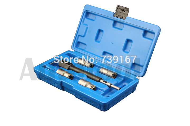 5PCS Laser Diesel Engine Injector Seat Cutter Clean Tool Set For BMW Mercedes CDI Peugeot Citroen Renault Fiat/Iveco ST0201 diesel injector seal kit cutter cdi special tools injector seat injector