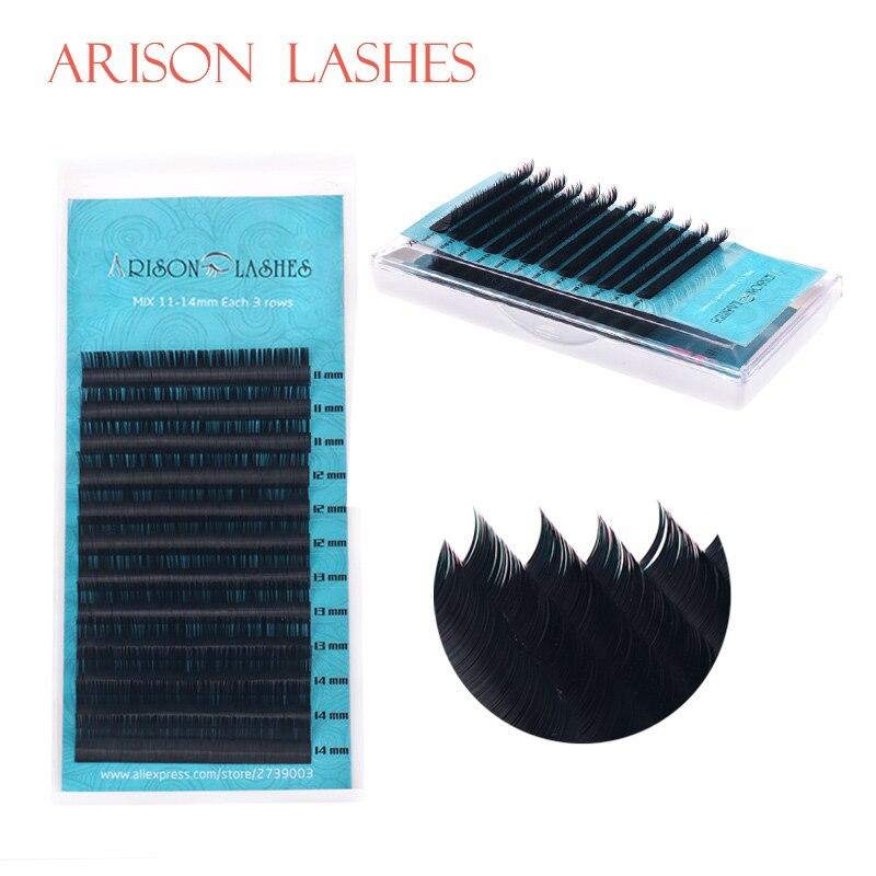 1pc Mixed Sizes Premium 3D Volume Eyelash Extensions Lash JBCD Curl 2017 New Lash ARISON Brand
