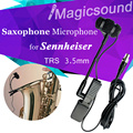 Высокое качество нагрудные конденсаторный саксофон микрофон музыкальные инструменты микрофон для Sennheiser беспроводной системы 3.5 мм винтовой домкрат