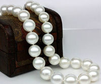 FREE SHIPPING HOT sell new Style >>>> single strands AAA11 12mm south sea white round pearl necklace 19925silver