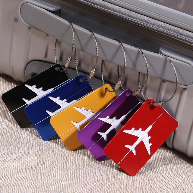 4dfdcae388a7 US $17.38 |Custoized Company Logo Aluminium Alloy Luggage Tag ID Name Card  Holder Travel Name Tag Flight Luggage Tags Personalized Gifts-in Badge ...
