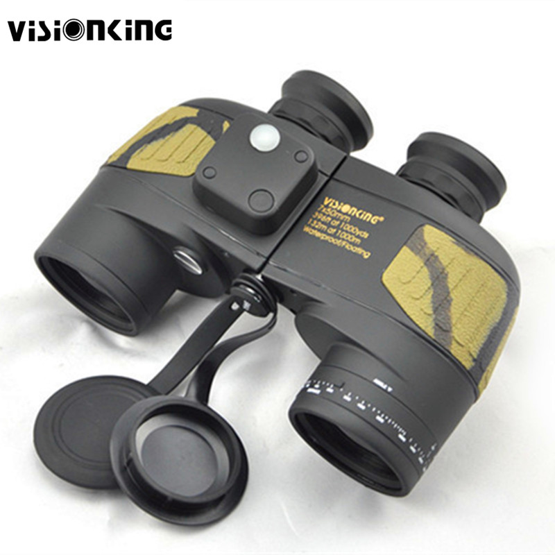 Visionking 7x50 BAK4 Waterproof Floating Binoculars With Build In Compass Prismaticos Range Finder Military Hunting font