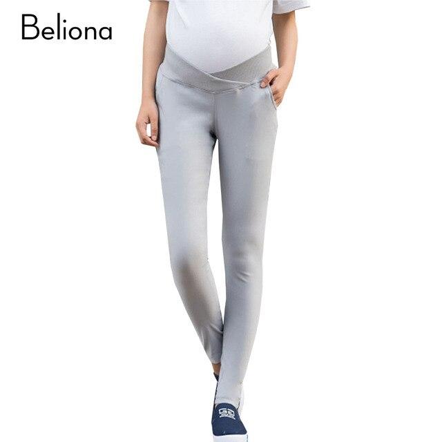 Мода Весна Низкой Талией Материнства Брюки для Беременных Плюс Размер Одежды Беременности Сплошной Цвет Стрейч Premama Одежда