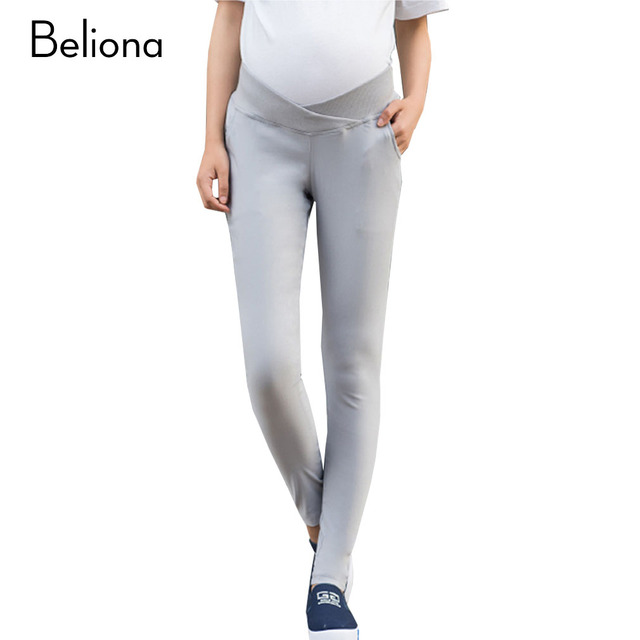 Fashion Spring Low Waist Maternity Pants for Pregnant Women Plus Size Pregnancy Clothes Solid Color Stretch Premama Clothing