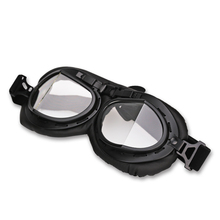 Clear Retro Vintage Motorcycle Goggles Motocross Aviator WWII Pilot Goggles Scooter Moto Motorbike Glasses For Harley