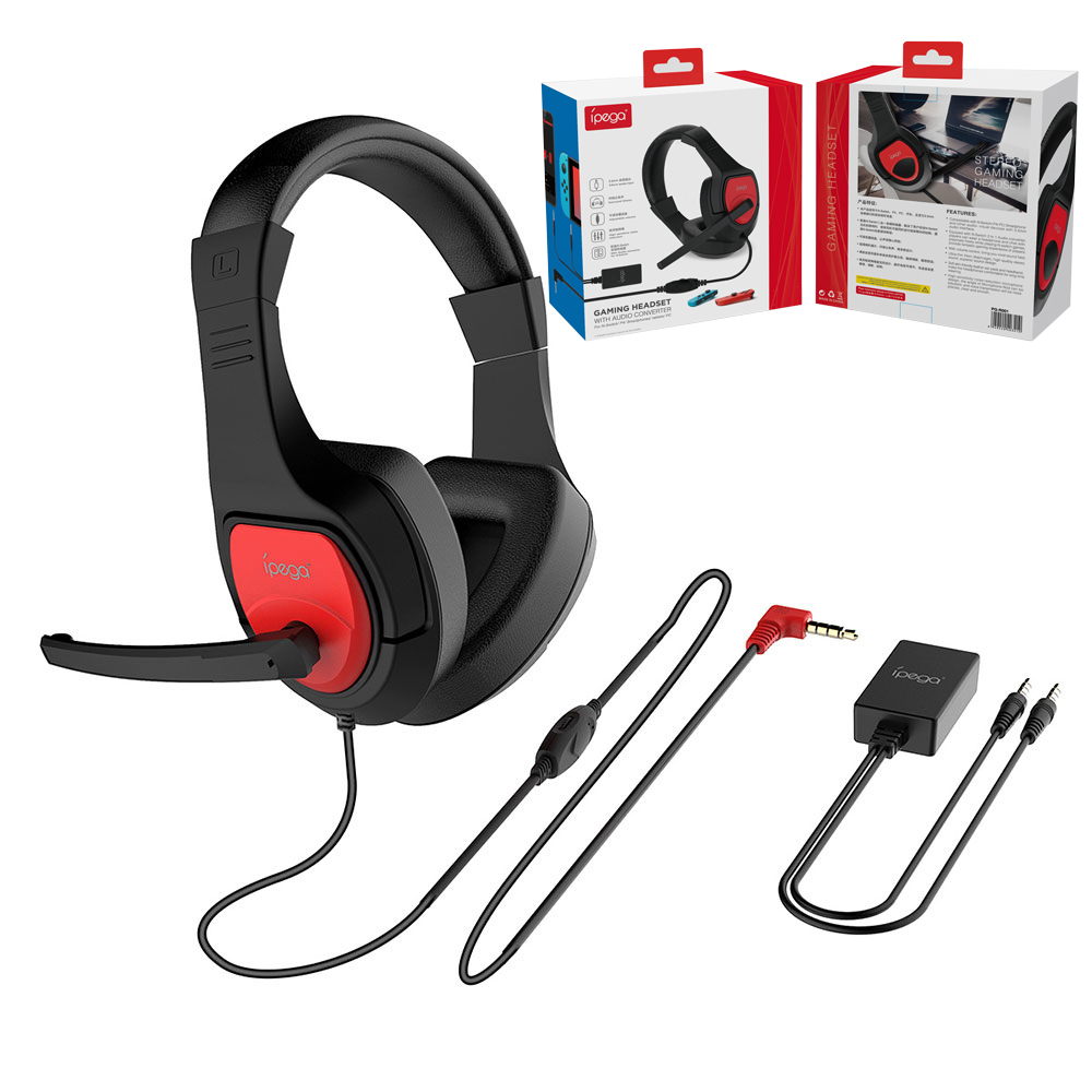 IPega Gaming Headphones HIFI Stereo Earphones Music Headset Microphone For PS4 Switch Laptop PC Tablet Gamer 3.5mm Audio Cable