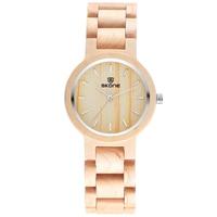SKONE Brand Sandalwood Wooden Watches Women Brand Design Japan Movement Quartz Bamboo Ladies Dress Watch Waterproof Reloj Mujer