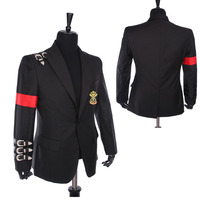 Nadir Klasik MJ Michael Jackson KÖTÜ Ceket Gayri Toka Rozeti Takım Siyah Punk Rahat Blazer