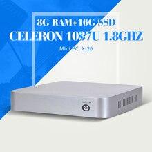 Мини-компьютер C1037U 8 г 512ram + 16 г SSD + WIFI рабочего мини башня компьютерные чехол мини настольных пк htpc с абс чехол