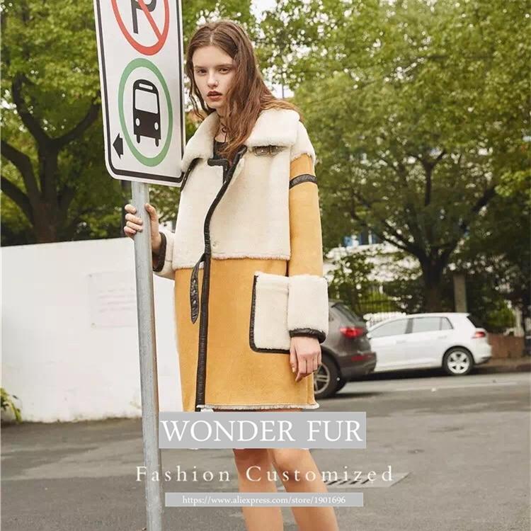 Nov prihod iz ovčje kože in krznene jakne Trend Style Merino ovčje - Ženska oblačila - Fotografija 2