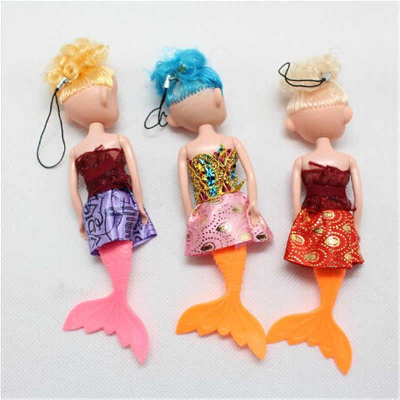 1PC Cartoon Fashion Princess Mermaid Doll ToyDecor Baby Kid Doll With Fish Tail Phone Decor ToyFor Girl Birthday Xmas Gifts 16cm