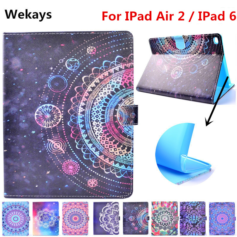 Wekays For Apple IPad Air 2 Stand Smart PU Leather Flip Fundas Case For Coque IPad Air 2 IPad 6 Tablet Cover Case For IPad Air 2