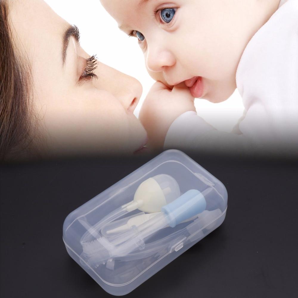 YAS 4Pcs Newborn Baby Care Kit Healthcare Nasal Aspirator Dropper Feeder Nursing Kit