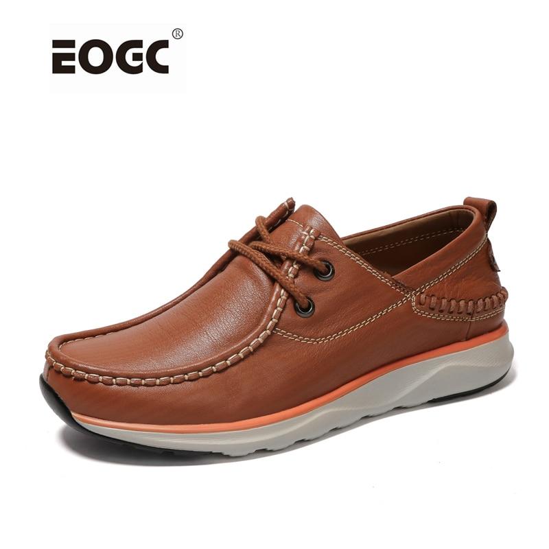 Ručno izrađene muške cipele Mekane pune prave kože muškarci stanovi cipele Plus veličina otvoreni muške cipele Vrhunske klasične jesenske cipele