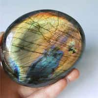 AAA 80-300G Natural Yellow Rainbow Labradorite Crystal Healing Madagascar